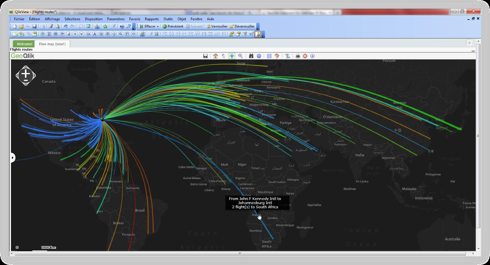 GeoQlik Flowmap