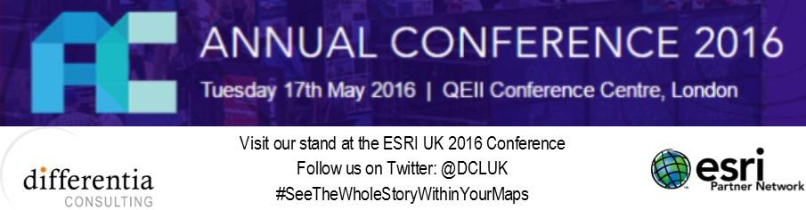 ESRI UK Conference 2016 Banner