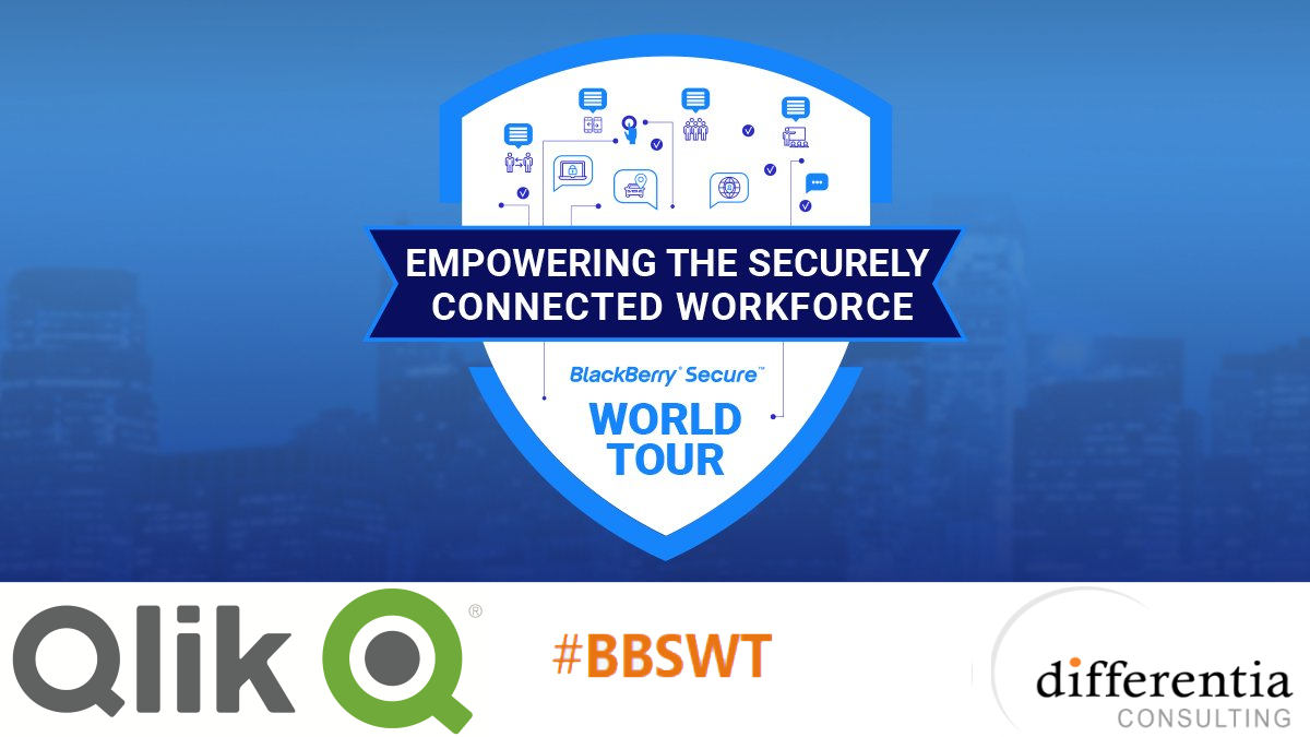 #BBSWT - BlackBerry Secure World Tour UK, Old Trafford Manchester, 10th May 2018 - Differentia Consulting - Qlik