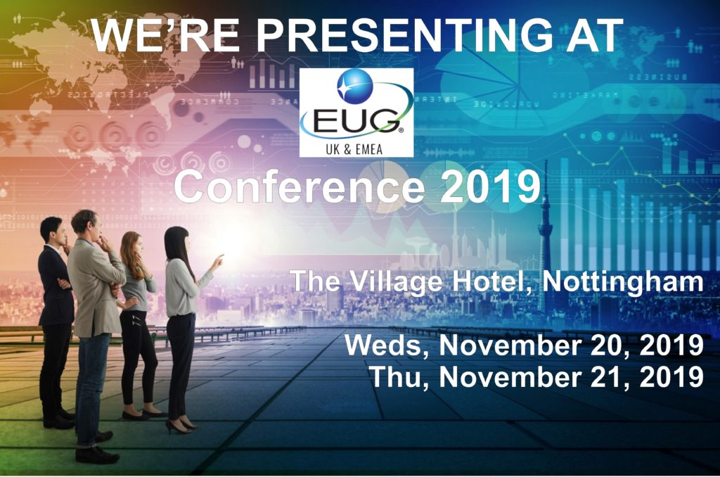 WE'RE PRESENTING AT EUG Conference 2019